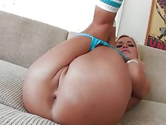 Charming hot Mckenzie Miles whacking her holes with her fingers and loves it