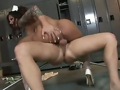 Hairless Mason Moore widens vaginas to feel her her boyfriend's Meaty cock in her
