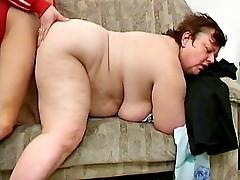 Sexy grandma hard dildo drilling