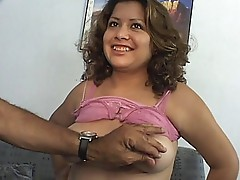 Cute prego showing off her love bubbles