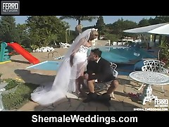 Camile shemale bride in actionion