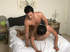 Kyle was curious about fucking a dude for the first time and Jay really just likes to get fucked by hot guys so it seems like a natural pairing.  Kyle