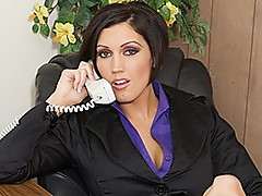 Large titted boss always acquires her way