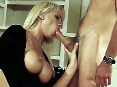 Fur pie licked large tit Blonde