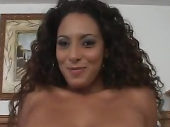 Beautiful latina slut suck dick and gets fucked