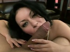 Breasty hawt Busty Becky passioNately sucking a Massive erect cock like a Lollipop