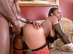 Ebony wife Molly booty plowed