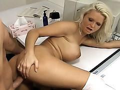 Breasty cheerleader cum-hole rammed