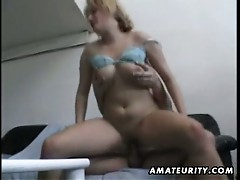 Blonde babe loves cock slamming with this big cock
