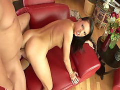 Gorgeous brunette slut from sin city opens wide for hot pounding
