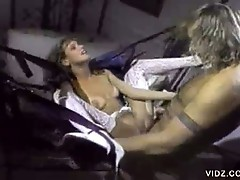 Blonde bitch fucked by a big-headed cock