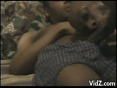 Sleeping dude massive cock sucked by horny gay black roommate