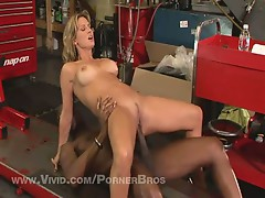Horny blonde chick savanna samson filthy for monster black cock