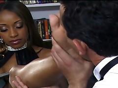 Horny huge cock hunk nailing ebony slut