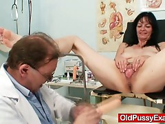 Amateur brunette granny twat checkup by filthy gyn medic