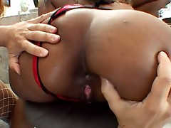 Dude fucks 2 hot black chicks hardcore