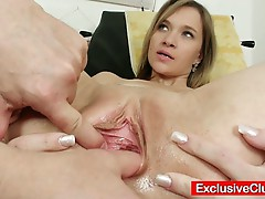 Petite bella anne goes for a pussy exam