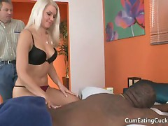 Money loving blonde amateur anikka albrite serving huge black cock