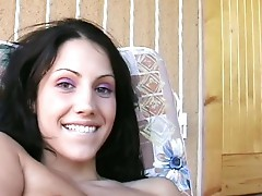 A brunette babe do hardcore sex with a muscled dude