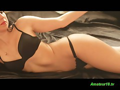 Hot flexible gymnast showing her hot body in a hot solo video