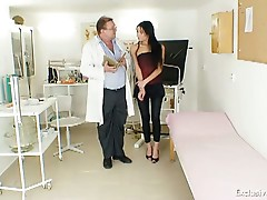Hot latina kinky gyno exam with speculum tool