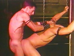 Muscular gay boys have wild sex in chains