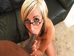 Big black lollipop for German pussy