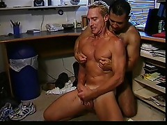 Hot two males fucking at office