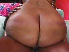Chunky chocolate ass on the ride