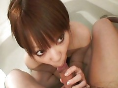 Hot Japanese babe gets creamed