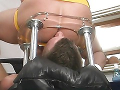 Fucking fun with the rimming chair