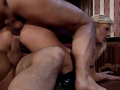 Vivian Schmitt fucked by two bad boys
