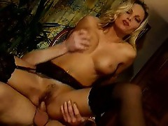Super hot MILF Anna Nova and two guys
