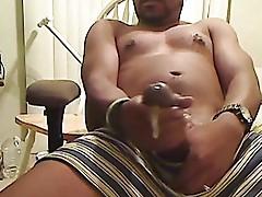 Hot big black cock cum load