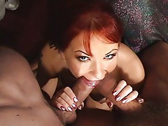 Katja Kassin in double hole action