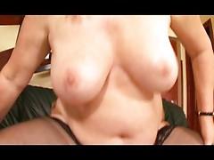 Chubby mature lady enjoys a hard fuck