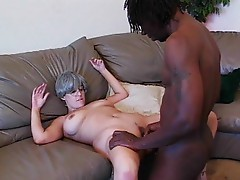 Mature gets laid by black guy
