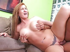 Horny MILF seducing her stepson