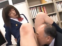 Anri Nonaka and Kurumi fucked by old teacher