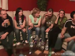 Horny czech couples in a horby swingers party