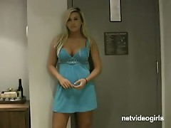 Busty blonde minx in diamond calendar audition