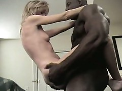 Big bad black cock fucks inside white slut