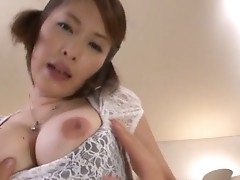 Asian wife Saki Ootsuka sucks and fucks