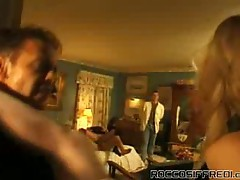 Horny slutty blonde chick bends hard for nasty anal pounding