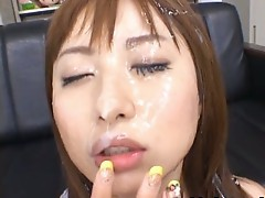 Asian Honey Kokomi Naruse is Getting cum load