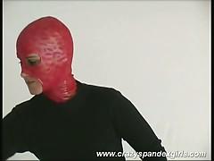 Voluptuous dame undresses spandex