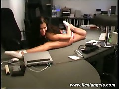 Young ballerina samantha stretch and expose her amazing body