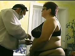 Fatty slut fucked hard in medical examination