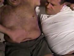 Three horny gay dudes enjoy hard fuck