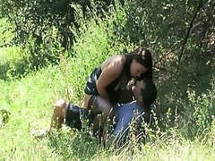 Hot nature fuck action for this slutty babe